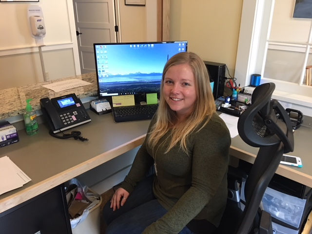 Laura Hupp    Front Desk Adnimistrator   Laura is our Front Desk Administrator who does a wonderful job managing the phone, scheduling clients, and collecting payments, while simultaneously making everyone feel welcome and comfortable. She and her husband moved here from Homer, Alaska in August 2017, and she enjoys hiking, fishing, and time with family.