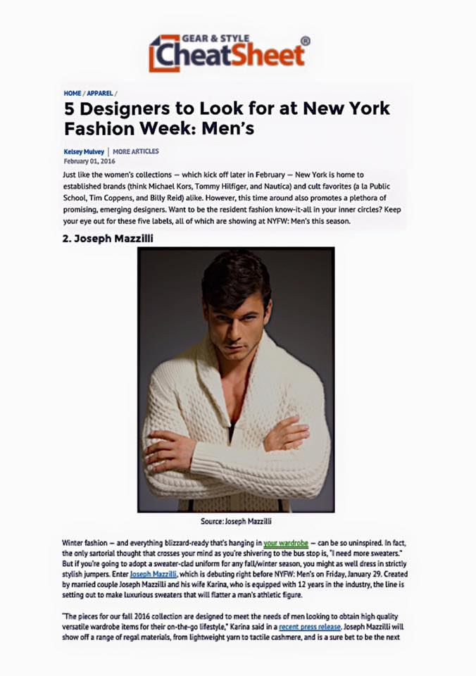 13.Joseph Mazzilli NYFW Preview on Cheat Sheet.jpg