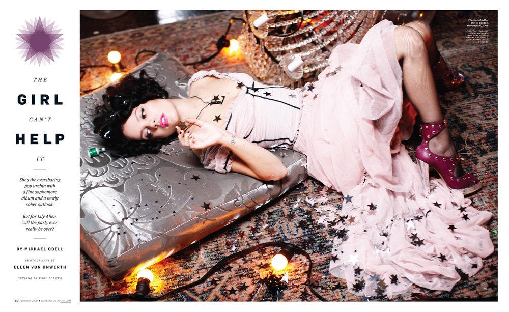 SPIN Lily Allen by Ellen Von Unwerth
