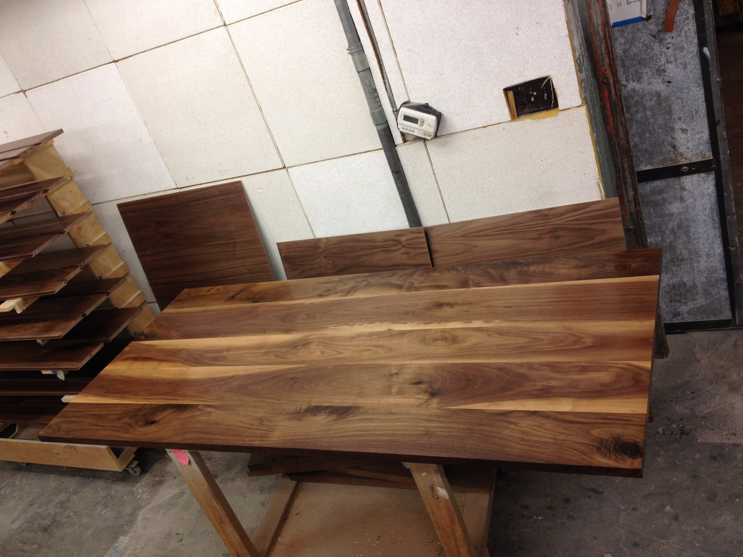 Walnut table top for Interior Design Fair