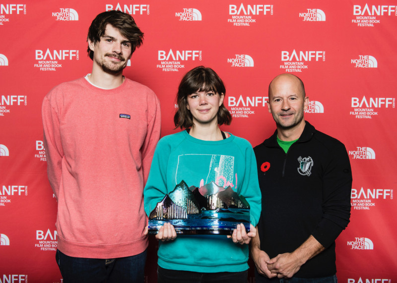 Banff Centre, Mountain Film and Book Festival, 2017, Best Climbing Film Psycho Vertical, Alpine Club of Canada Sponsor, Jen Randall.