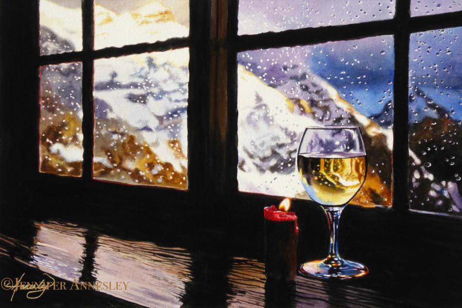 """Alpine Refuge "" Watercolour | 21 x 14"" | 2016"