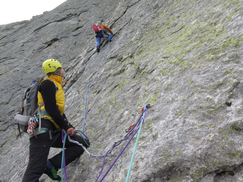 Enjoyable climbing on the Cassin Route!