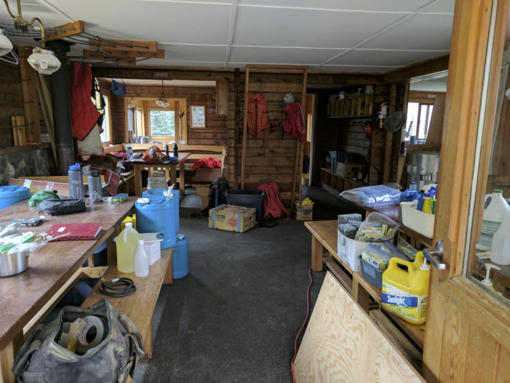 Our kitchen and living room for 9 days