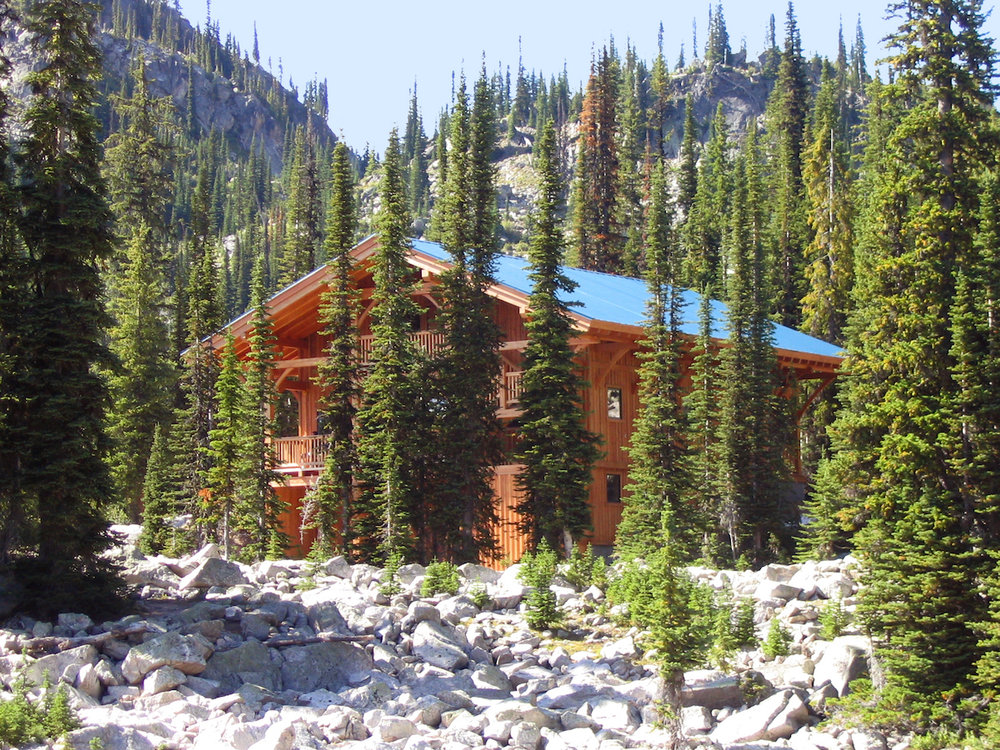Home for the week – the Kokanee Glacier Cabin.