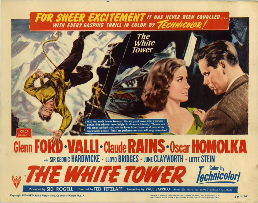 Movie poster for The White Tower (1950).