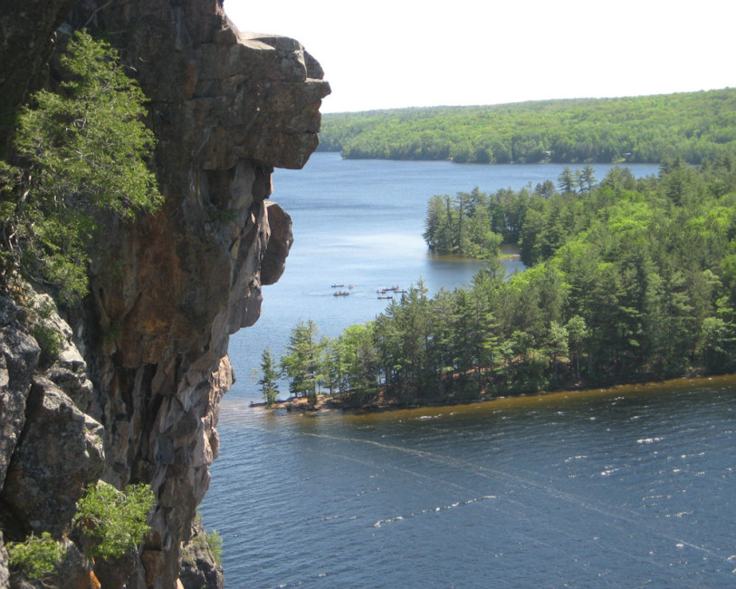 Overlooking Mazinaw Lake. Photo by Colin Huggard.