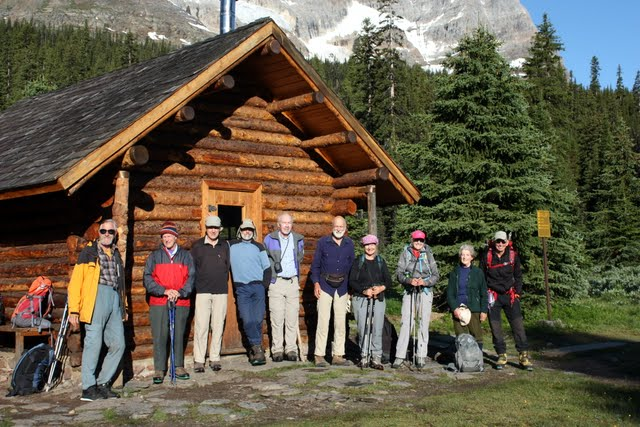 The 2011 team at Elizabeth Parker Hut. Photo by Dave McCormick.
