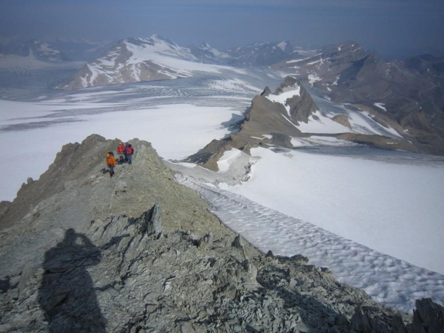 Huge views across the Wapta Icefields. Photo by Dana Roman.