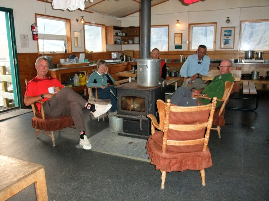 Relaxing at the Bow Hut. Photo by Nellie Johnson.