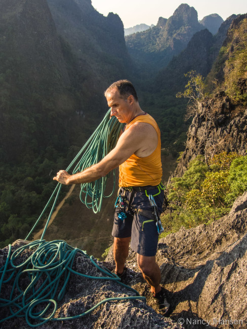 There are a handful of fun four-pitch routes that lead to a summit with great views.