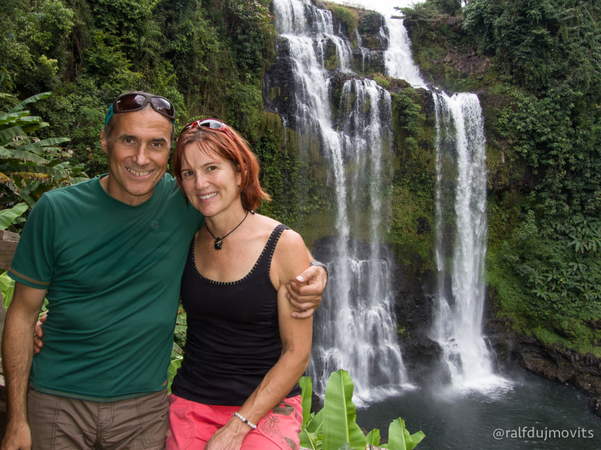 The Bolvean Plateau is famous for waterfalls, rainforest and coffee plantations. We only had a day, but you could easily spend three or four days hiking and sightseeing.