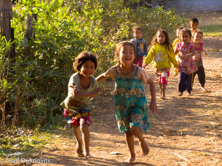 Rural Laos is very poor. But like most places, rich or poor, the kids are full of joy.
