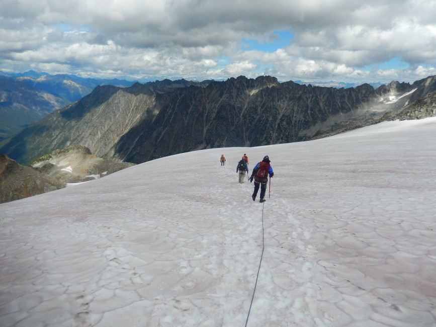 High summer on Kokanee Glacier. Photo by Rick McKelvey.