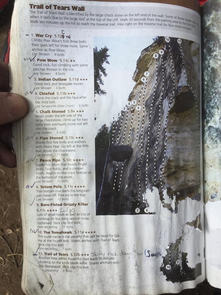 A well loved but much better useable climbing guide. Photo by Shawn Shi.
