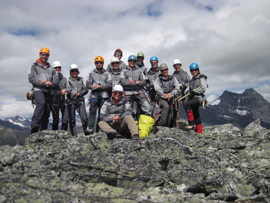 The TNF Crew wearing their sweet new TNF outfits. Thanks goes out to everyone! Photo by Rafael Kolodziejczyk.