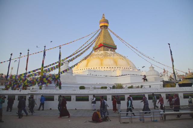 Bodanath Buddhist stupa.