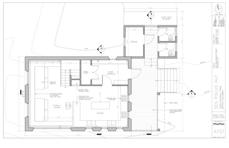 Louise & Richard Guy Hut – Main Floor.