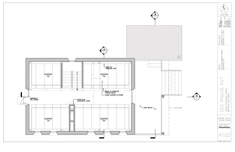 Louise & Richard Guy Hut – Upper Floor.