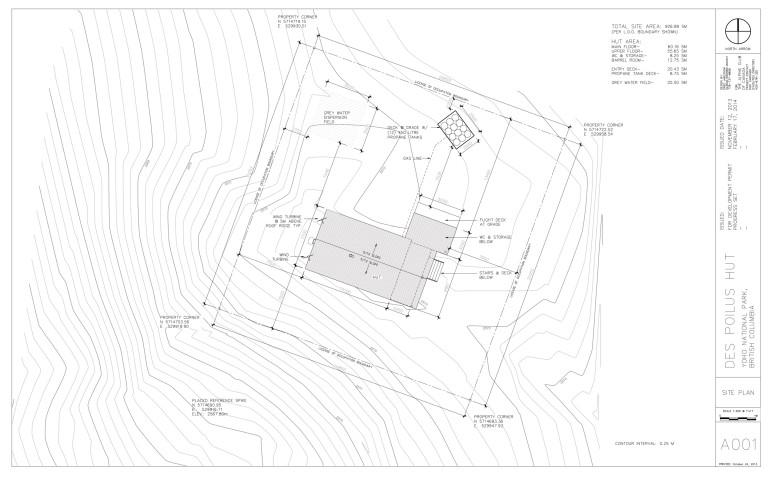 Louise & Richard Guy Hut – Site Plan.