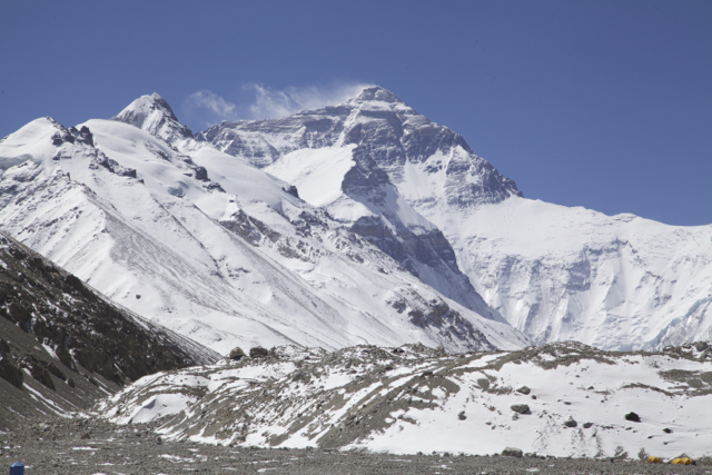 North Face of Everest from base camp.
