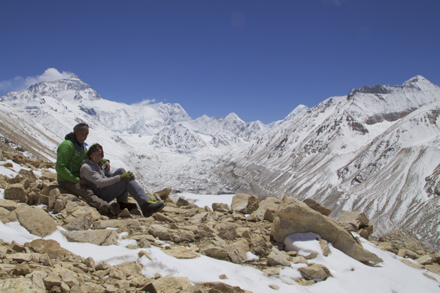 From left to right, Everest, Nuptse, Khumbutse and Pumori.