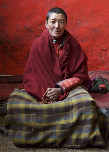 Nun in the Rongbuk Monastery.