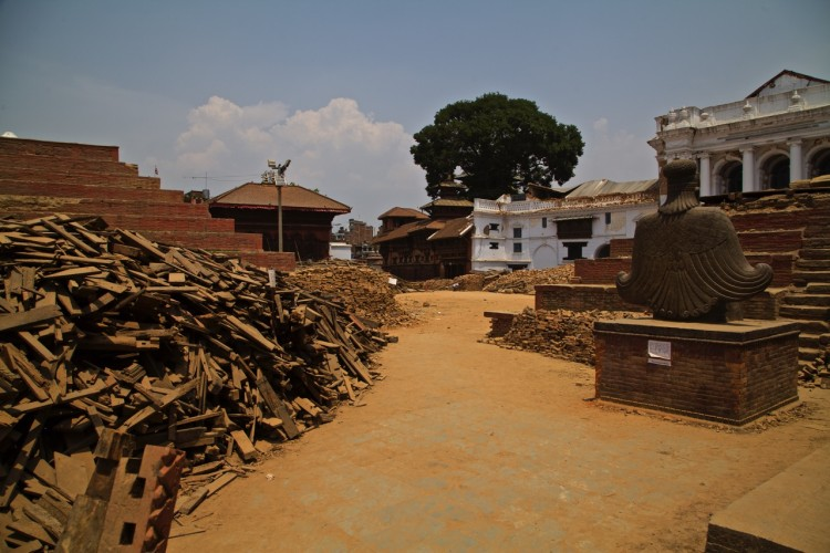 The brick steps were the foundation of  multi-storey beautiful and ancient wooden Hindu temples.