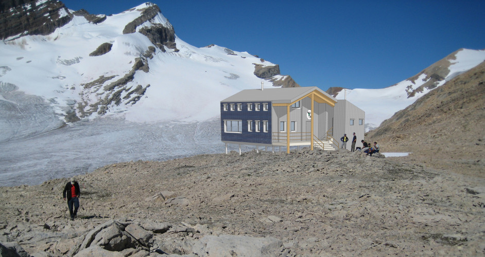 Artist's rendering of the Louise & Richard Guy Hut.