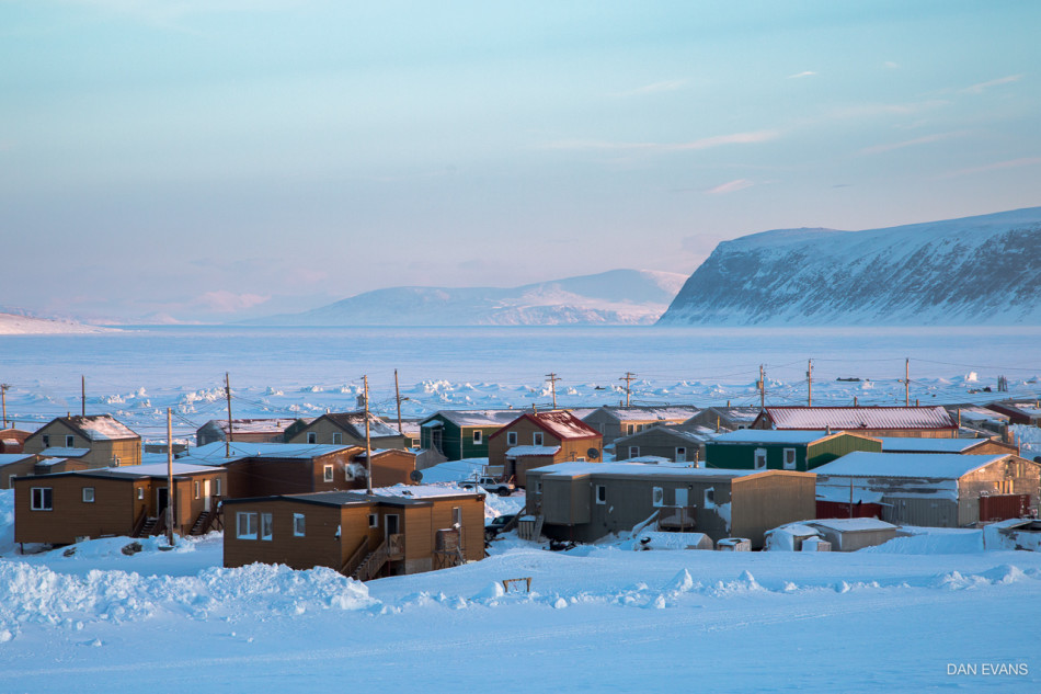 The Hamlet of Clyde River, NU. Photo by Dan Evans.