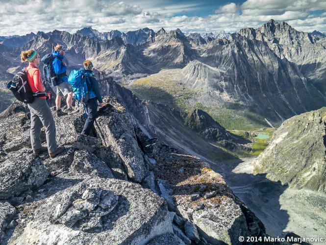 ACC Yukon members on the summit of Mount Elysian.
