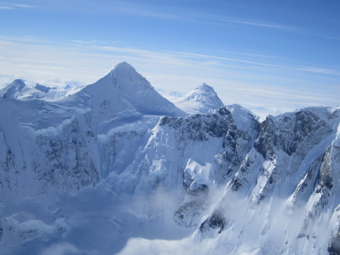 "Mt. Weisshorn area. ""Basically anything in these photos are our objectives."""