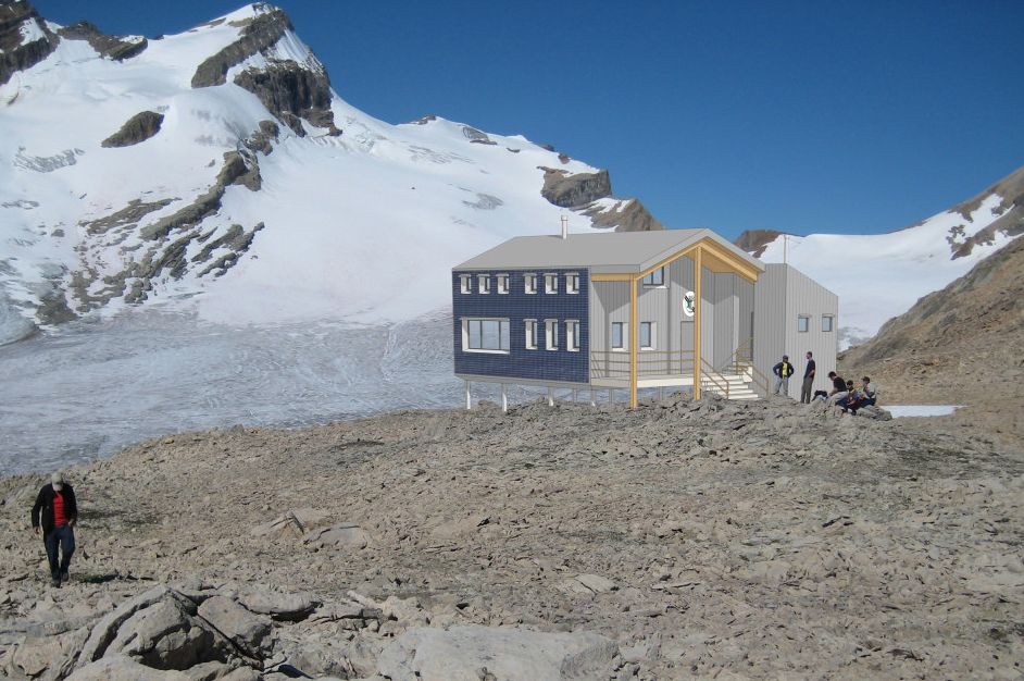 Plans for the location and architecture of the proposed Guy Hut.