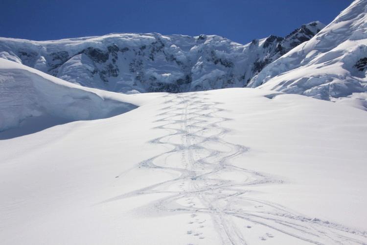 Excellent skiing in June.