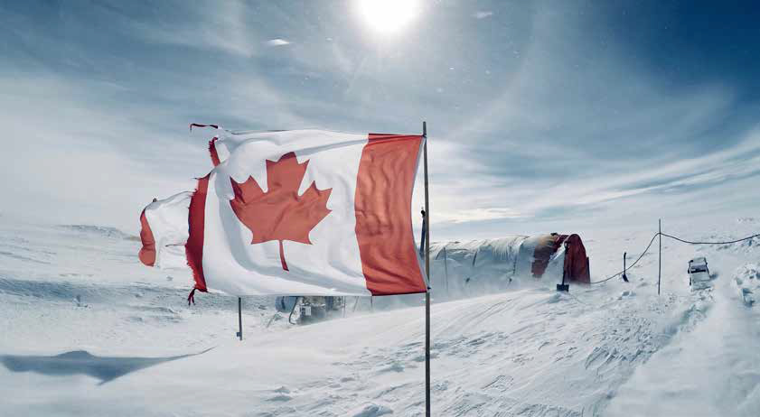Canada, a proud part of the 2017/18 Antarctic deep drilling program in Wilhelm II Land. Photo: Alison Criscitiello.