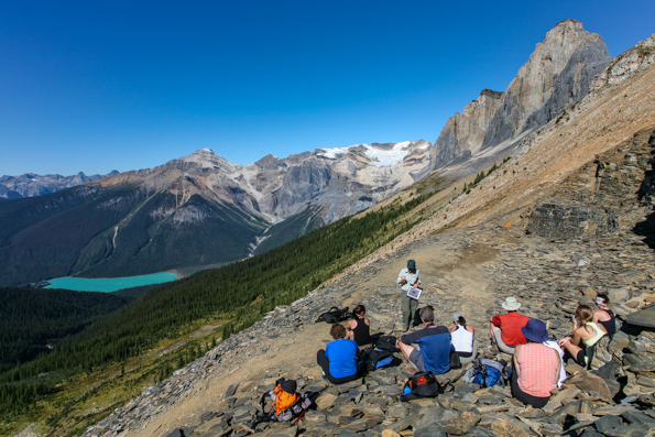 A Parks Canada interpreter shares the story of the Burgess Shale.