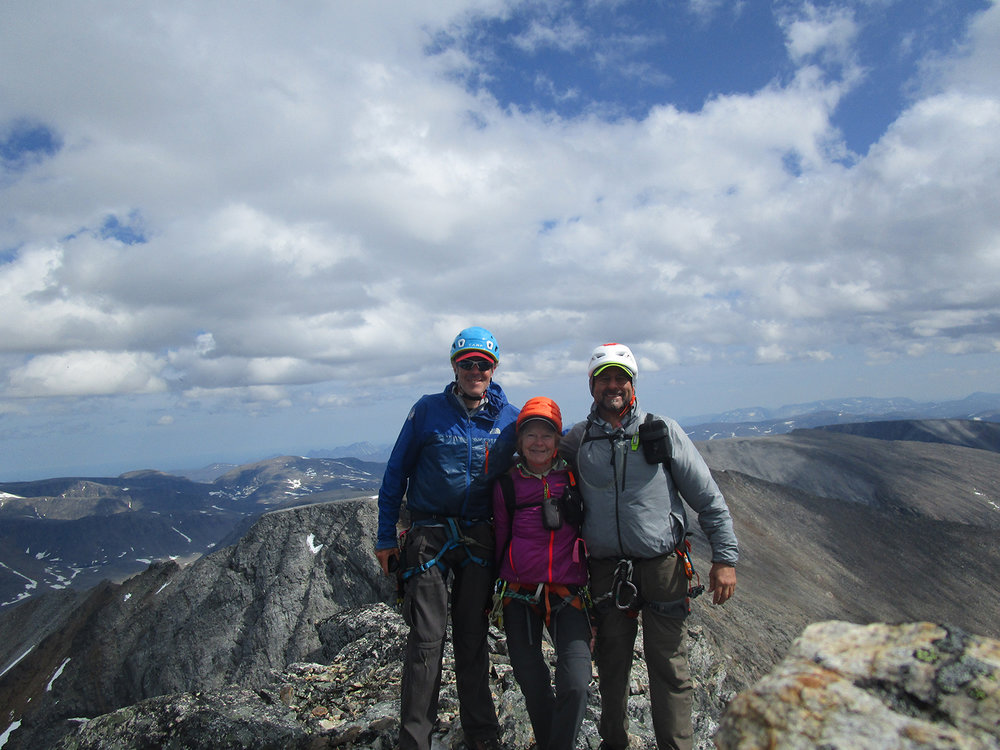 Mike, Deb and Paul on the summit of Caubvick. Photo: Deb Clouthier
