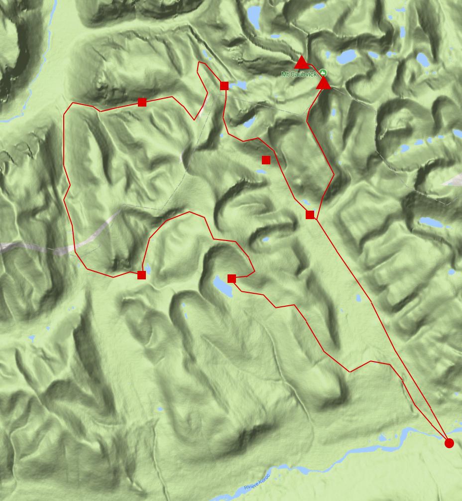 The hiking circuit!