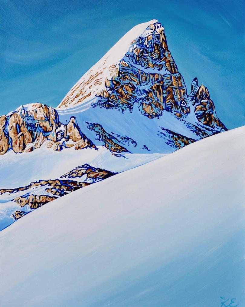 "St Nicholas Peak: Acryllic on canvas, 30"" x 40"" by Kayla Eykelboom.  Retail: $2,300. Bidding begins at $1,100."