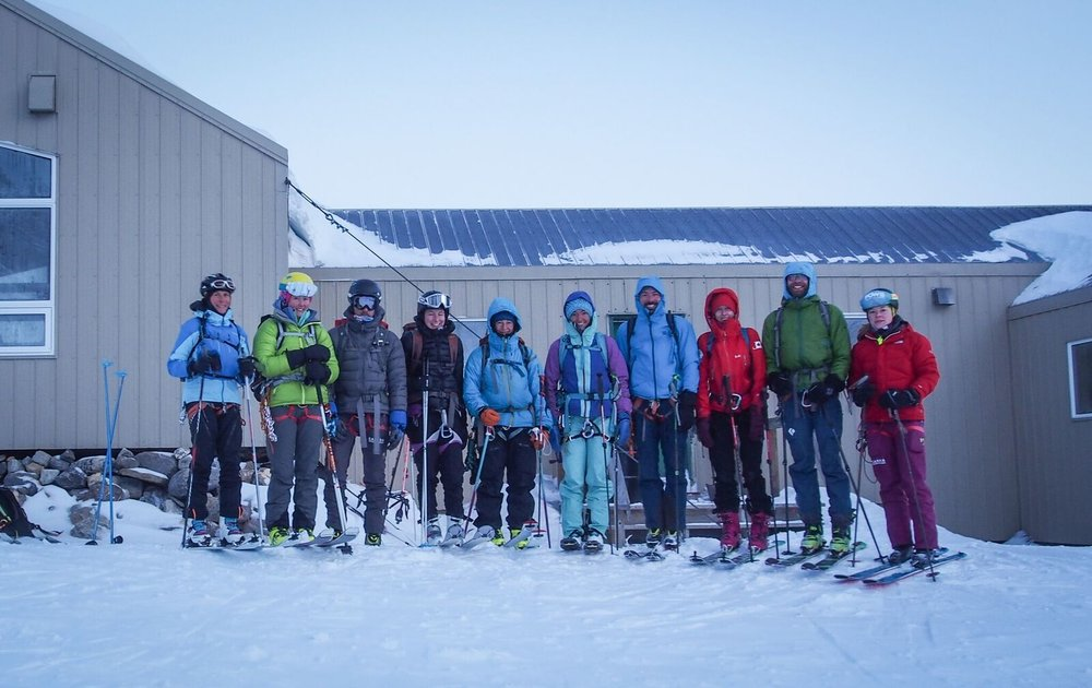 Members of the Canadian National Ski Mountaineering Team present at training camp. Photo: Matt Reid
