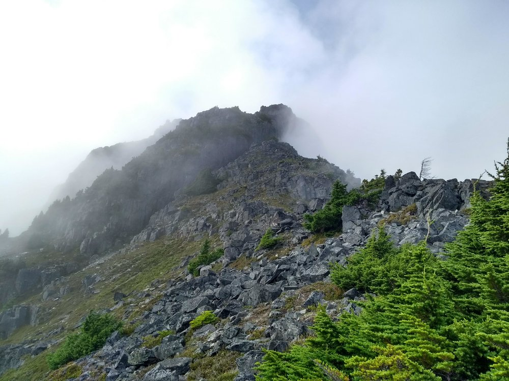 The ridge on Mt. Ashwood.