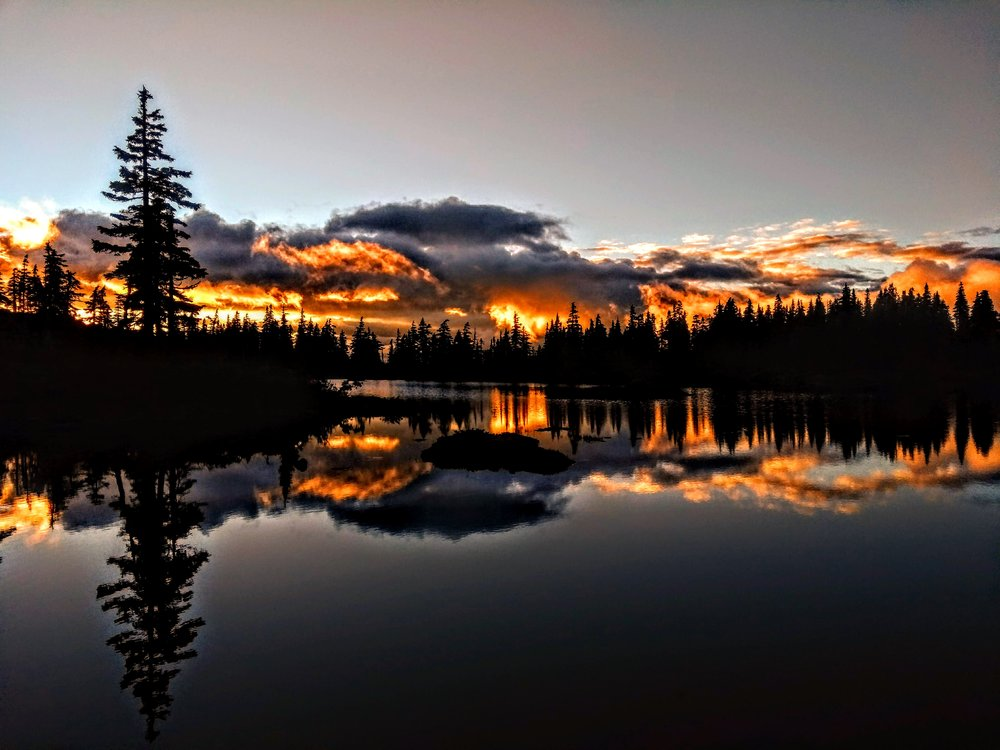Sunset by Clifton Lake in the Beauforts