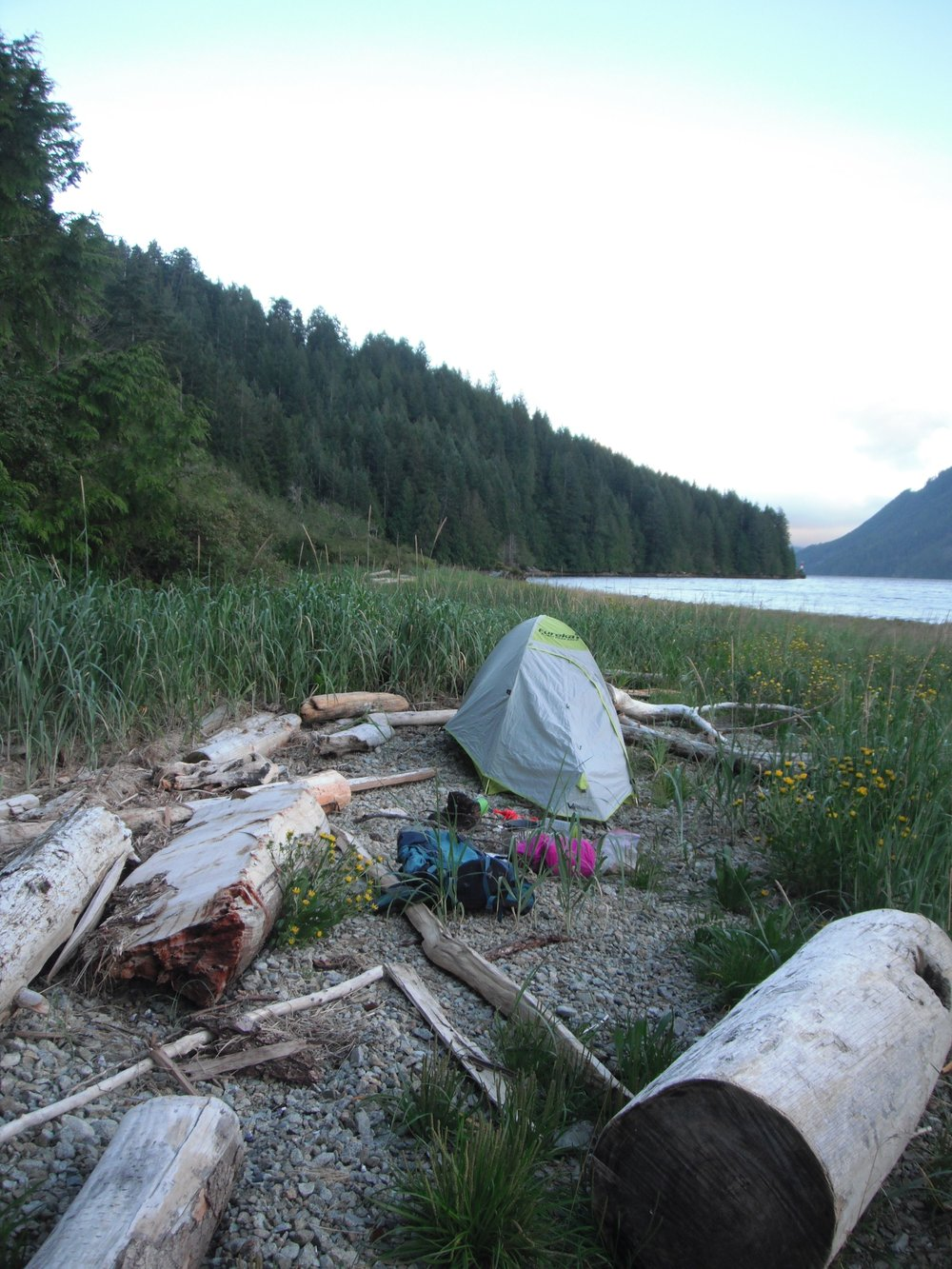 Camping by the Alberni Inlet