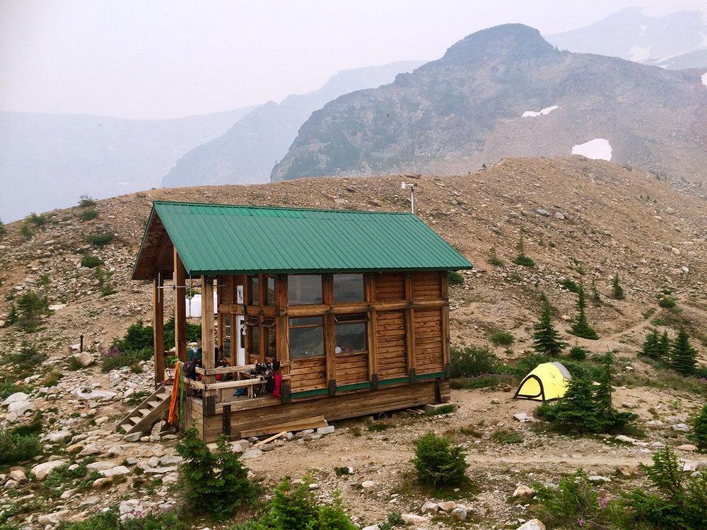 Asulkan Cabin in Glacier National Park.
