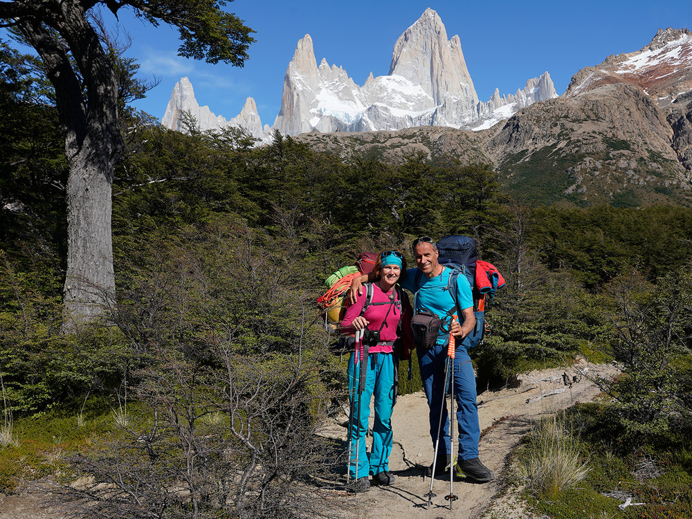 Nancy and Ralf in Patagonia