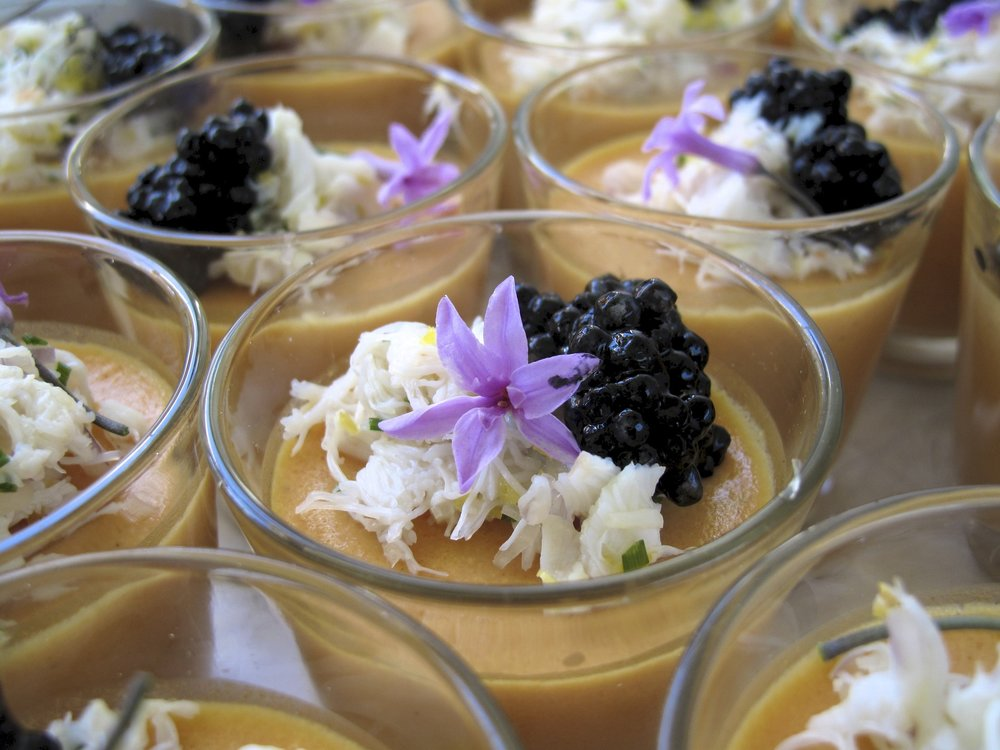 Spanner crab salad with squid ink pearls.jpg
