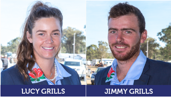 Lucy and Jimmy Grills who play for the  Albury Holbrook Polocrosse Club  in NSW