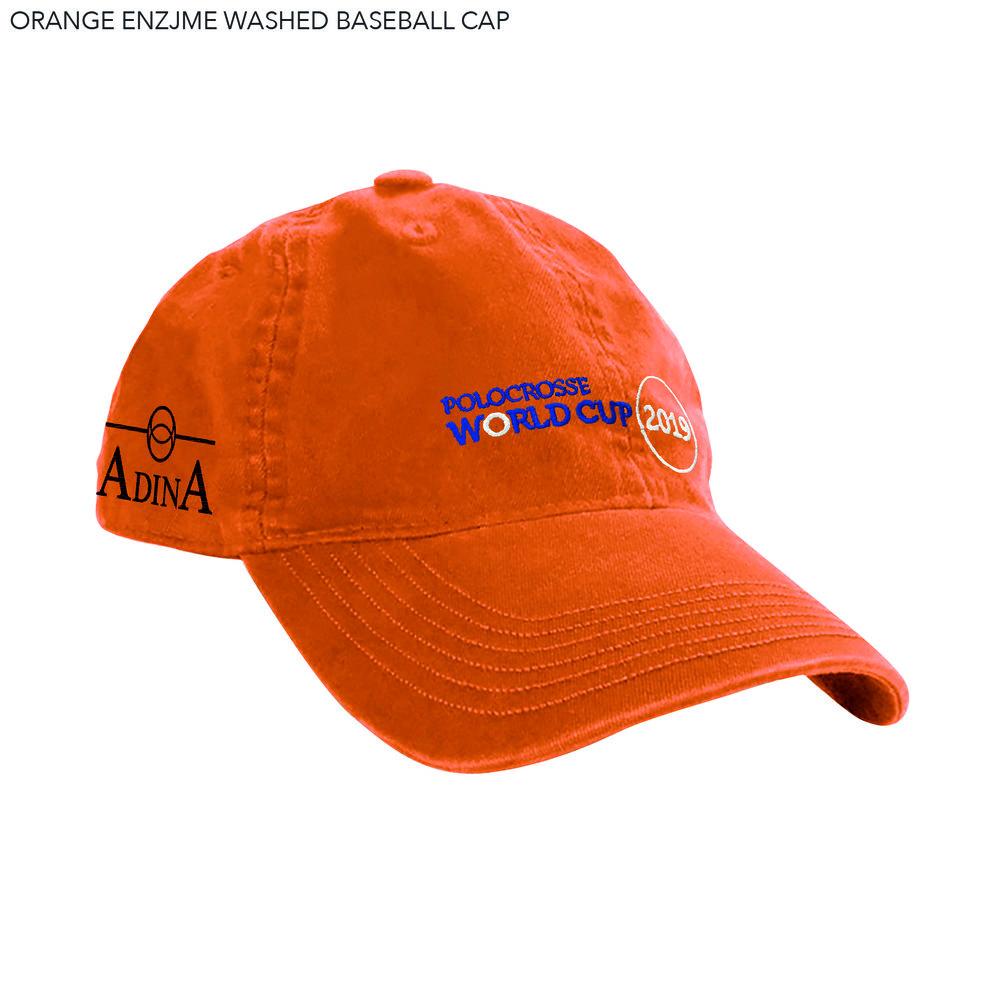 ORANGE ENZJME WASHED BASEBALL CAP.jpg