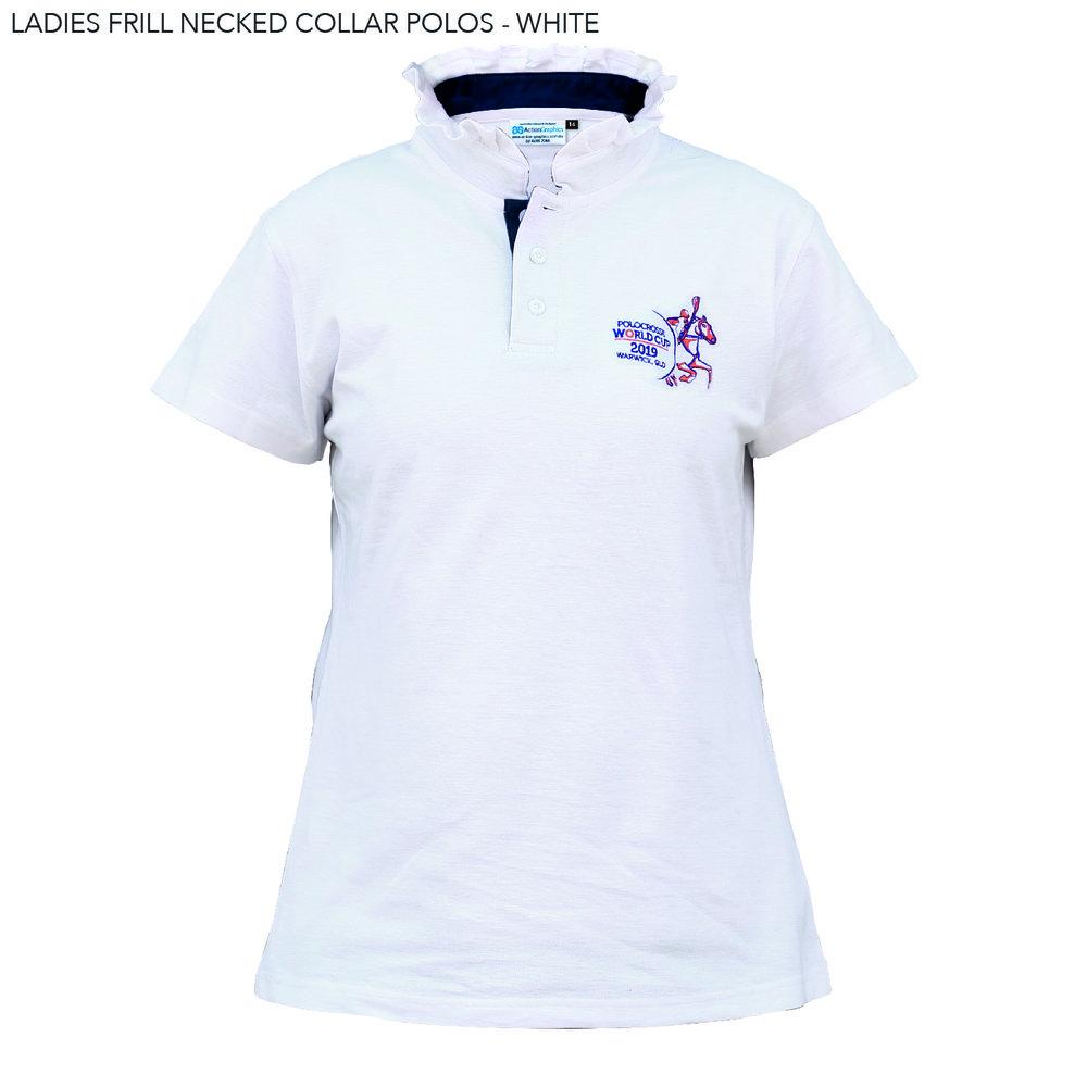 LADIES FRILL NECKED COLLAR POLOS - WHITE.jpg