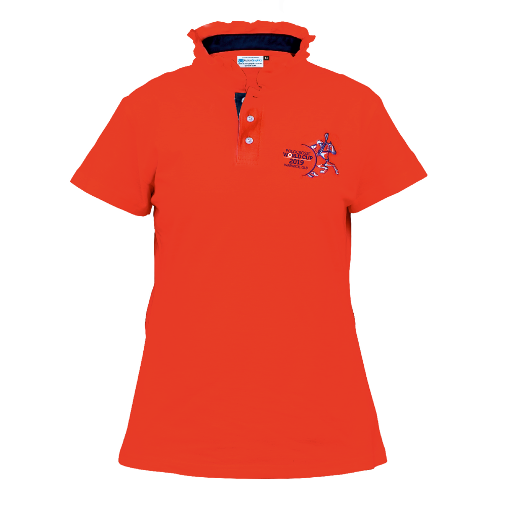LADIES FRILL NECKED COLLAR POLOS - ORANGE-1.png